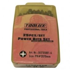 Bits Uç Seti 25 Parça PH-2.70 DCF35001-6 DBK